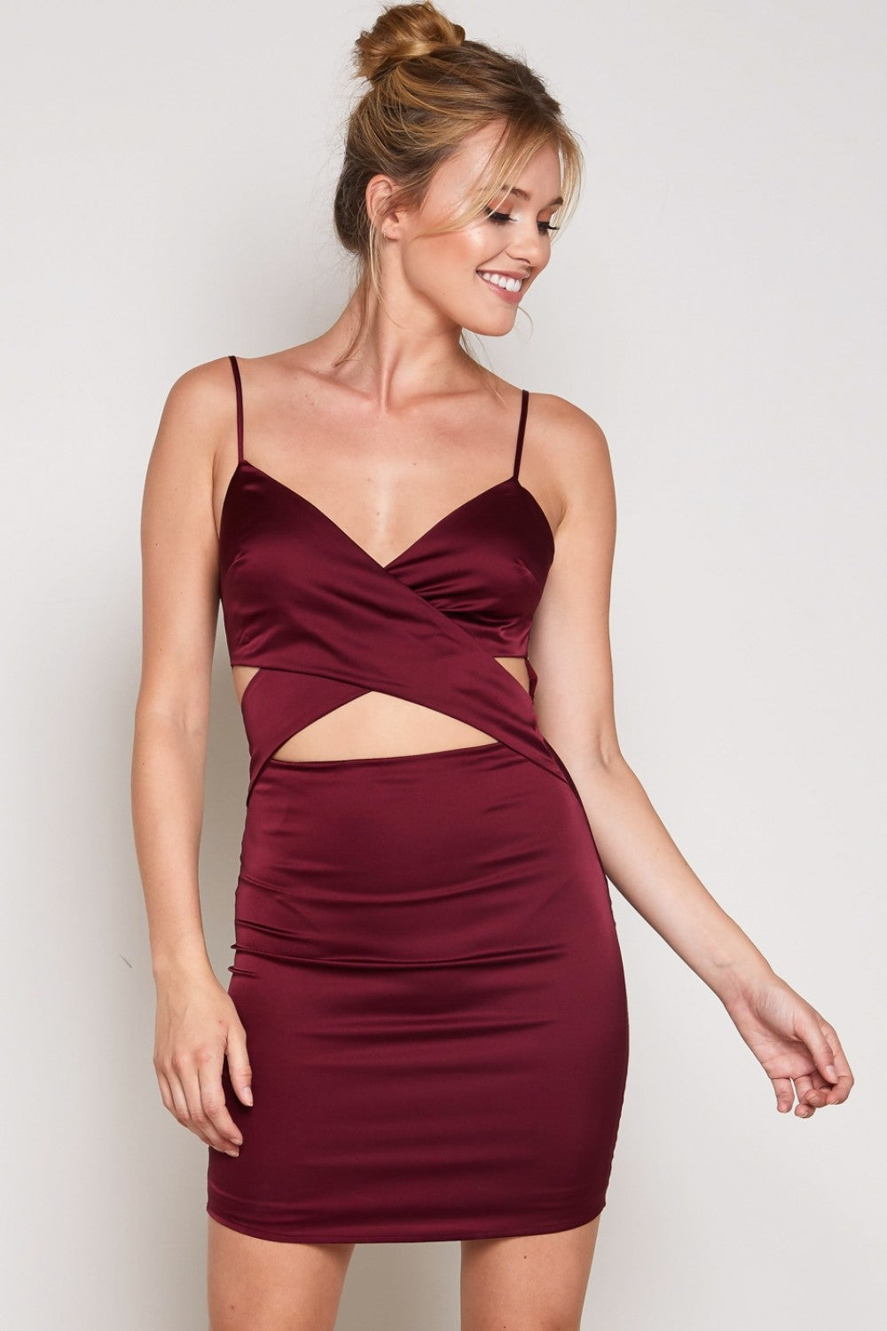 Zoey Waist Cut Off Sleeveless Dress