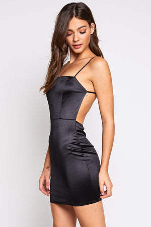 Riley Back Cut Out Fitted Dress