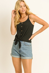 Maggie Scoop Neck Ribbed Camisole Top