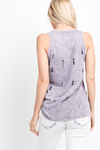 Marcela Supima Cotton Distressed Mineral Wash Top