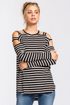 Tigerine Soft Long Sleeve Hi-Low Jersey Top