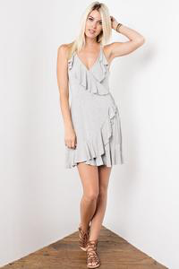 Jessica Sleeveless Ruffle Wrap Dress