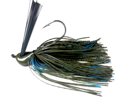 Blue Oyster - Custom Wire Tied Jigs for Bass Fishing
