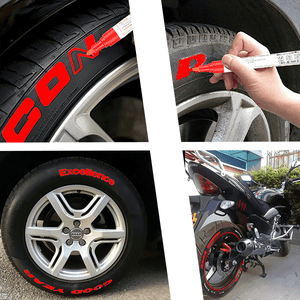Multifunction grout coating marker tire paint pen