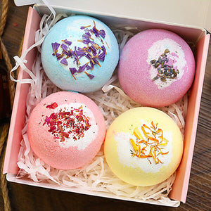 Bath Bombs Gift Set, Shea & Coco Butter Dry Skin Moisturize, Perfect for Bubble & Spa Bath