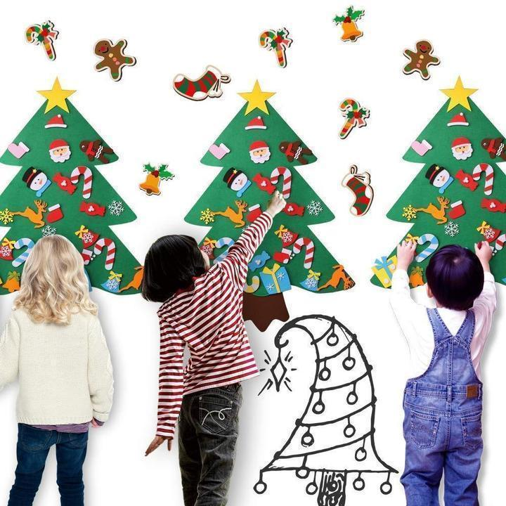 DIY felt christmas tree(Perfect Gift For Children.)