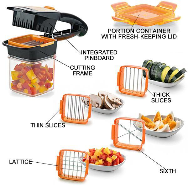 50%OFF-EASY FOOD CHOPPER-2PACKS(Orange+Green)