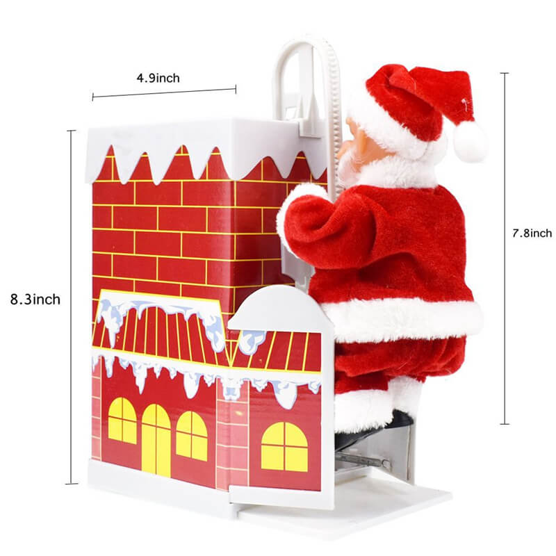 Lovely santa climbing chimney Enjoyable Gift Toy with Music