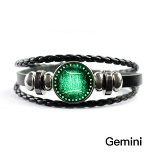 12 constellation gemstone bracelet