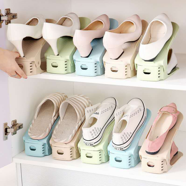 Simple life Adjustable Shoe Rack Space Saver