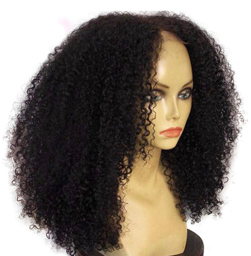 Mongolian Kinky Curly Lace front Wigs