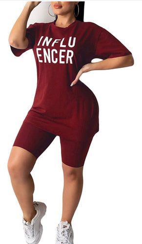 Influencer 2 pcs Shorts Set