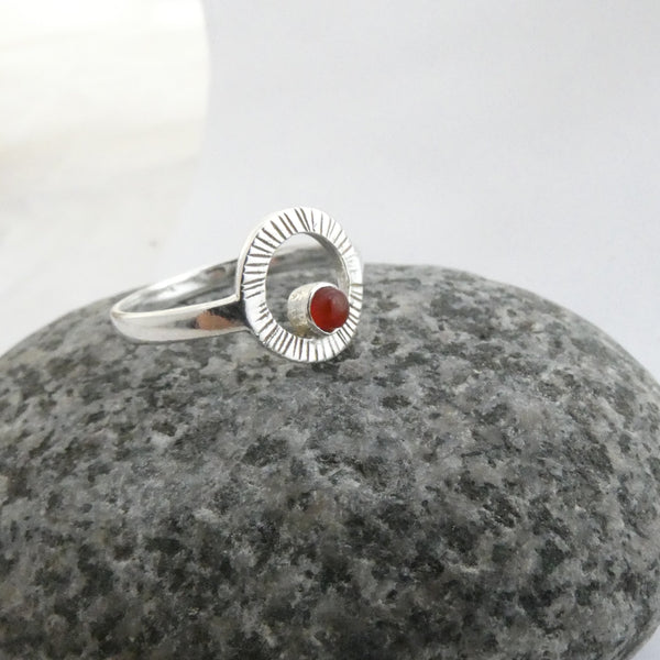 Lughnasa Ring with Carnelian