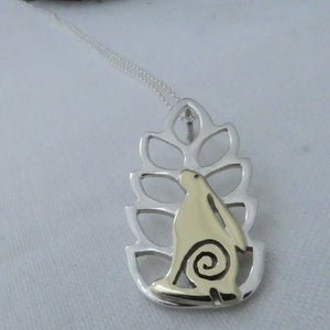 Hare in the Corn Pendant