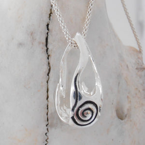 Bealtaine Festival of Fire Oxidised Sterling Silver Pendant