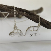 Load image into Gallery viewer, adventure awaits silver necklace