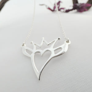 Contemporary Claddagh Necklace
