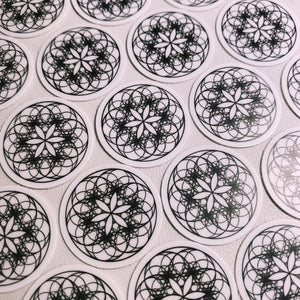 FRACTALS Mini Sticker