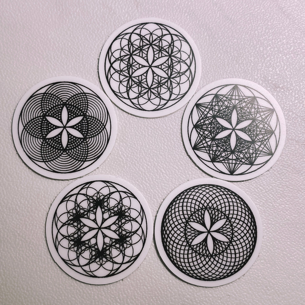 Sacred Geometry Mini Sticker Pack (5)