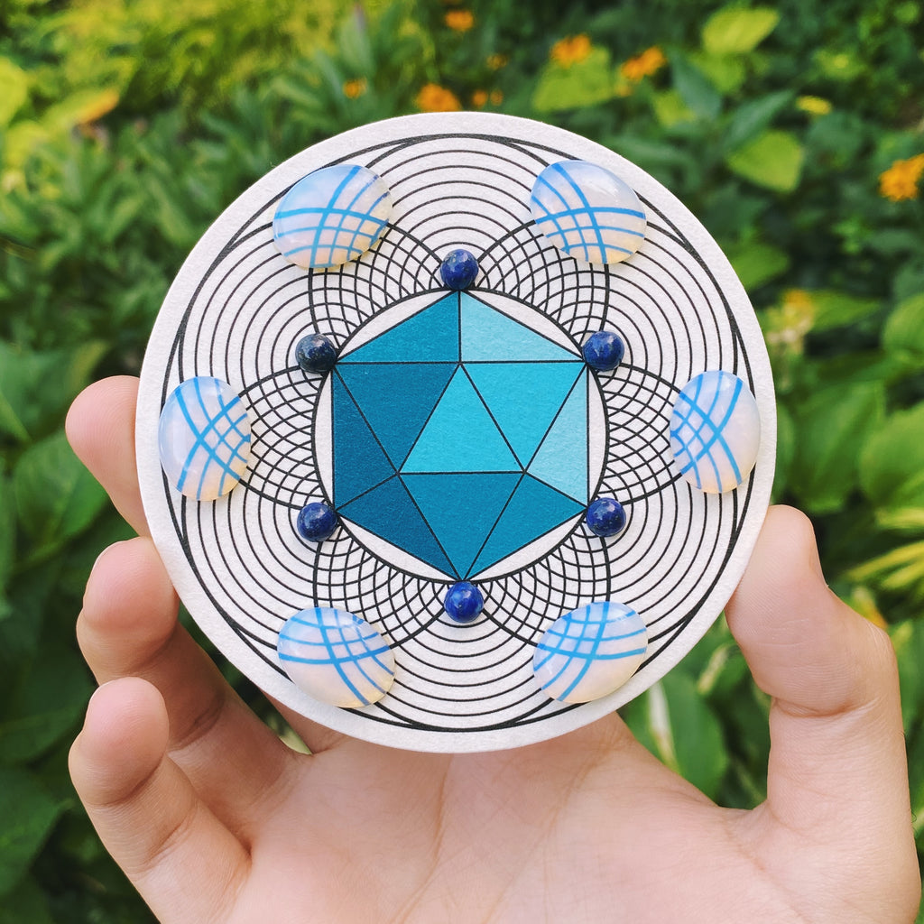 ICOSAHEDRON Crystal Grid (VIBRATIONS)