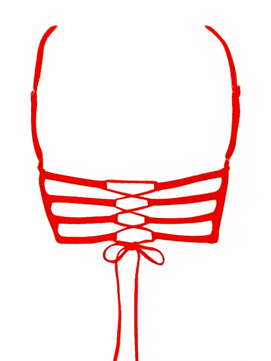 Rio Bikini Top in Candy Apple Red
