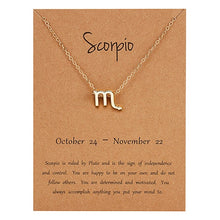 Load image into Gallery viewer, Zodiac Charm Necklace
