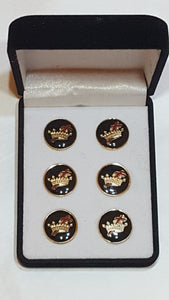 Cross and Crown Button Covers (no cuff links)