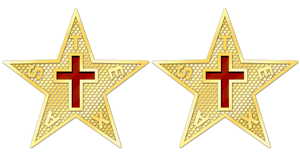 Texas Commandery Star Cuff Links - Gold