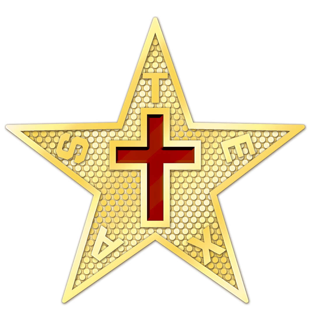 Texas Commandery Star - Gold