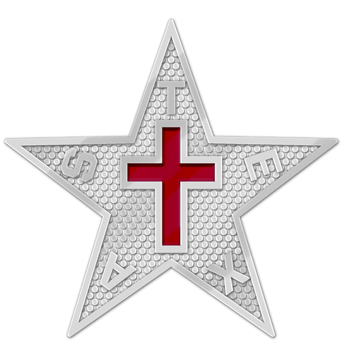 Texas Commandery Star - Silver
