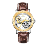 Colouring Automatic Mechanical Watch Dial Hollow Skeleton_13