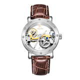 Colouring Automatic Mechanical Watch Dial Hollow Skeleton_12