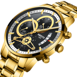 NIBOSI Gold And Black Men Watches_1