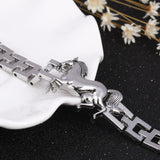 Fashion Punk Horse Stainless Steel Charm bracelet_4