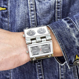 Big folding quartz wristwatch for men_1
