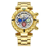 Multi-function Chronograph Gold Watch_2