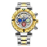Multi-function Chronograph Gold Watch_4