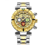 Multi-function Chronograph Gold Watch_5