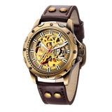 Bronze Skeleton Mechanical Watch_7