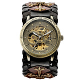Gothic Bronze Skeleton Automatic Watch_4