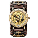 Gothic Bronze Skeleton Automatic Watch_5