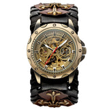 Gothic Bronze Skeleton Automatic Watch_6