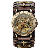 Gothic Bronze Skeleton Automatic Watch_7