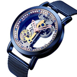 Bellissimo Skeleton Sapphire Crystal Women Mechanical Watch_2