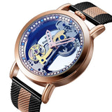 Bellissimo Skeleton Sapphire Crystal Women Mechanical Watch_4