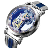 Bellissimo Skeleton Sapphire Crystal Women Mechanical Watch_6