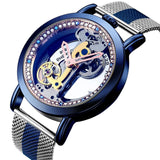 Bellissimo Skeleton Sapphire Crystal Women Mechanical Watch_7