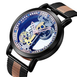 Bellissimo Skeleton Sapphire Crystal Women Mechanical Watch_3