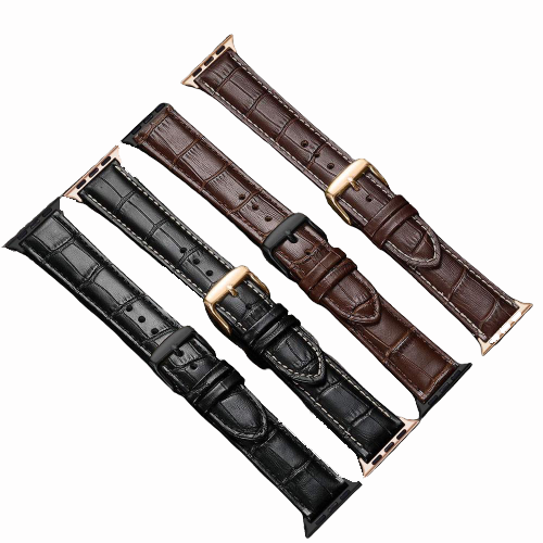 Apple Leather Watchband 6 5 4 SE 42mm 38mm Strap_1