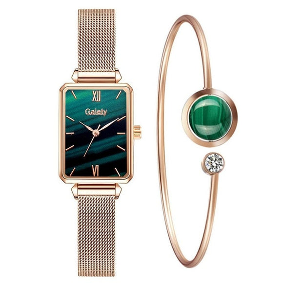 Fashion Women Square Watches Bracelet_3